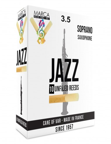 10 ANCHES MARCA JAZZ UNFILED SAXOPHONE SOPRANO 3.5