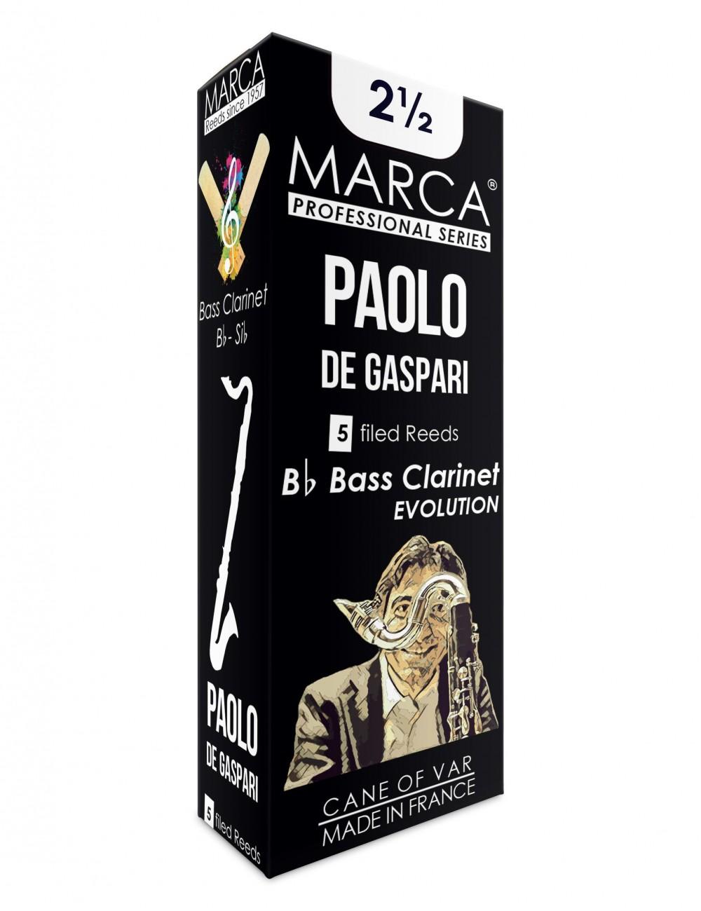5 REEDS MARCA PAOLO DE GASPARI BASS CLARINET 2.5
