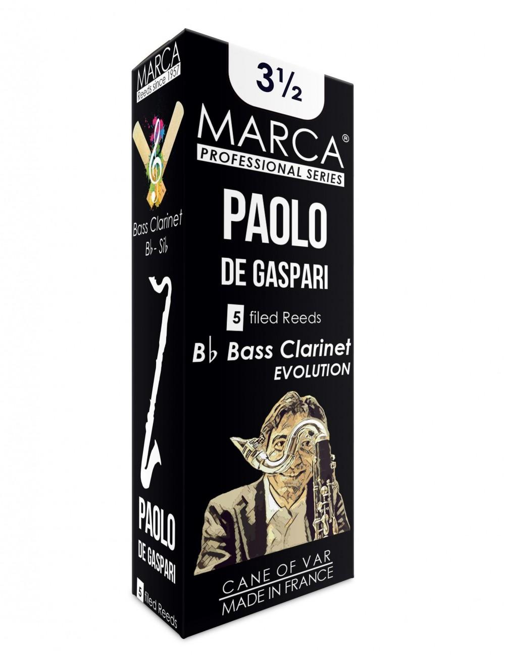 5 REEDS MARCA PAOLO DE GASPARI BASS CLARINET 3.5