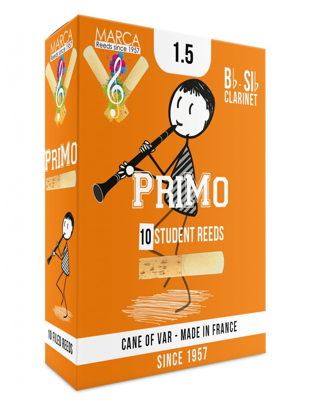10 REEDS MARCA PriMo BB CLARINET 1.5