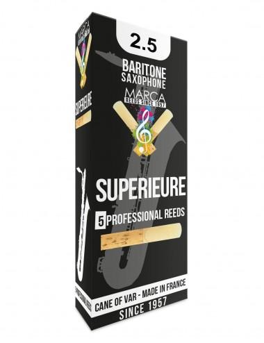 5 REEDS MARCA SUPERIEURE BARITONE SAXOPHONE 2.5