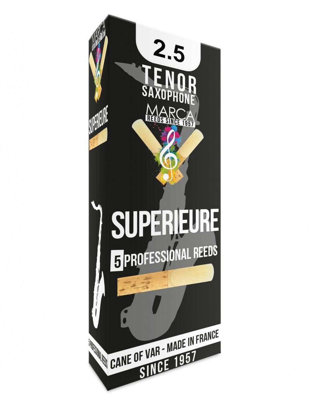 5 REEDS MARCA SUPERIEURE TENOR SAXOPHONE 2.5