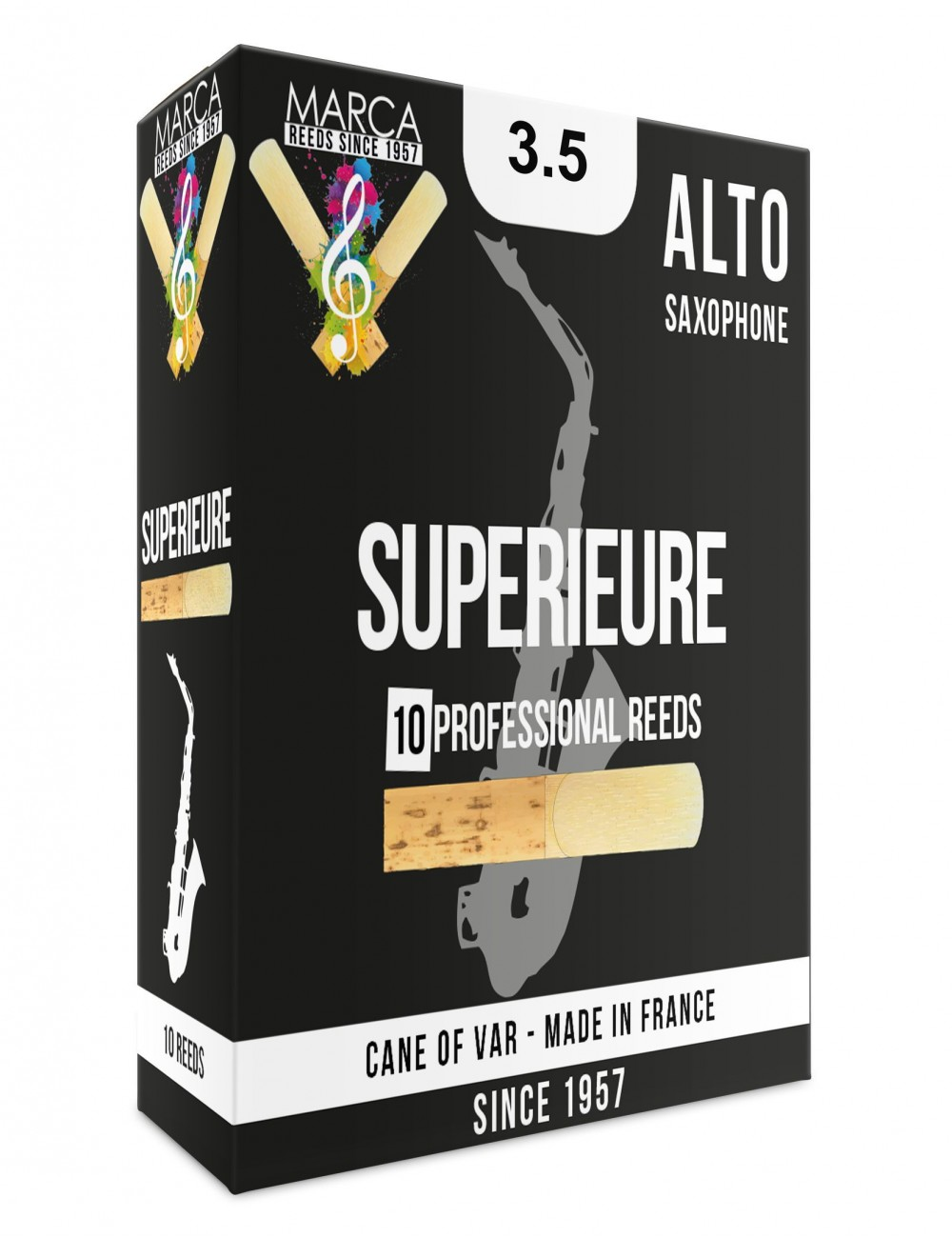 10 REEDS MARCA SUPERIEURE ALTO SAXOPHONE 3.5