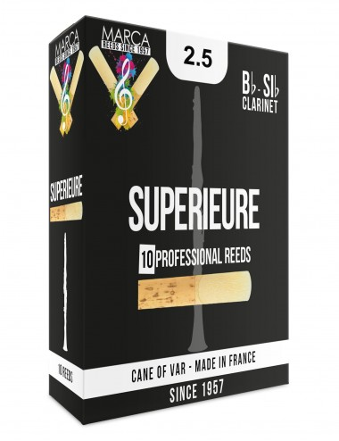 10 REEDS MARCA SUPERIEURE BB CLARINET 2.5