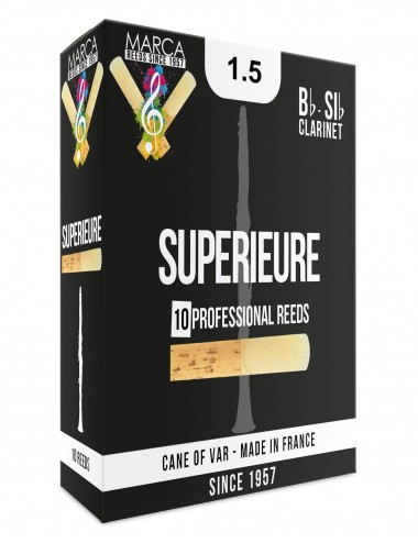 10 REEDS MARCA SUPERIEURE BB CLARINET 1.5