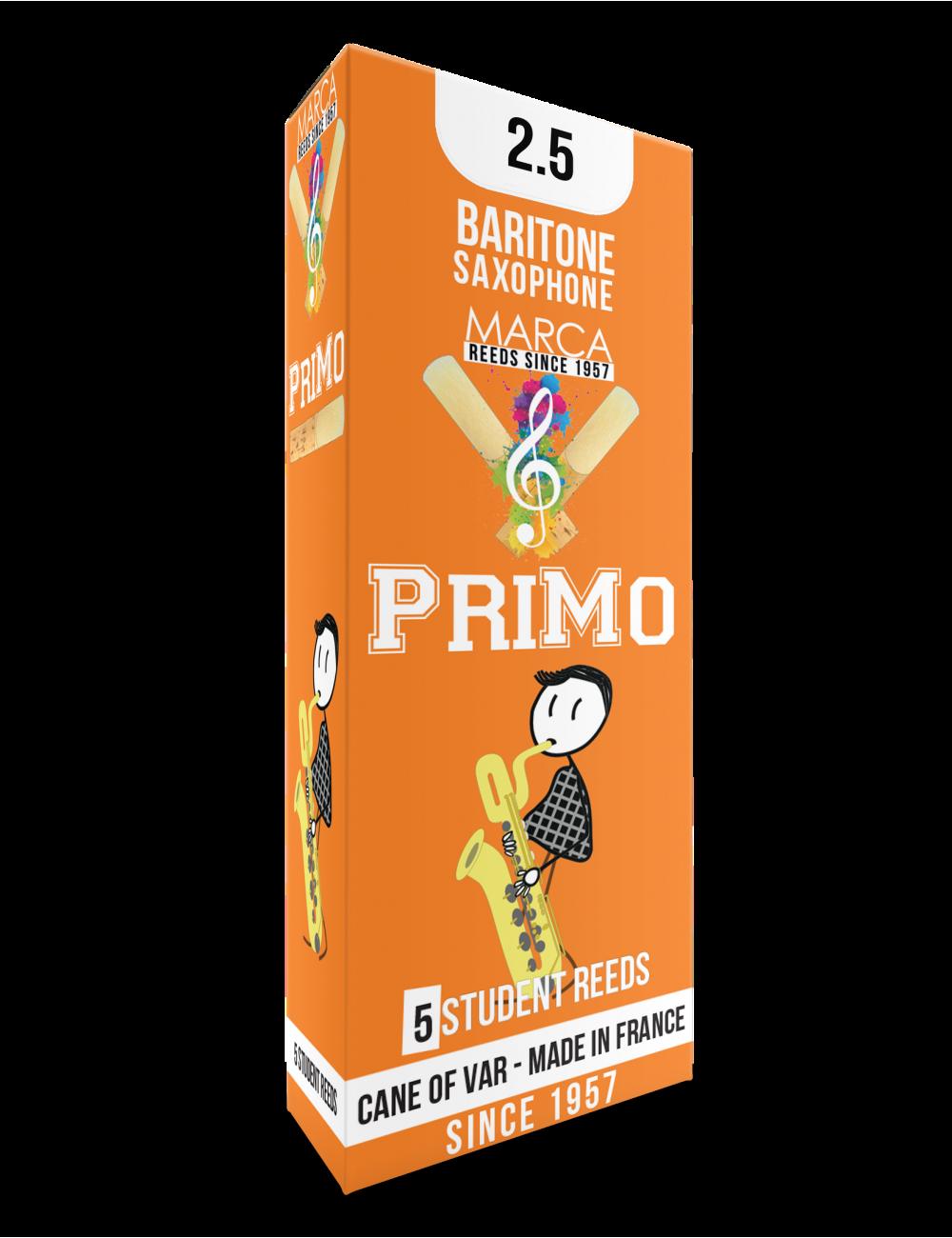 10 REEDS MARCA PriMo BARITONE SAXOPHONE 2.5