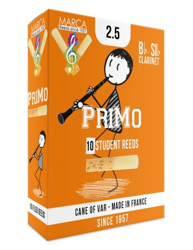 10 REEDS MARCA PriMo BB CLARINET 2.5