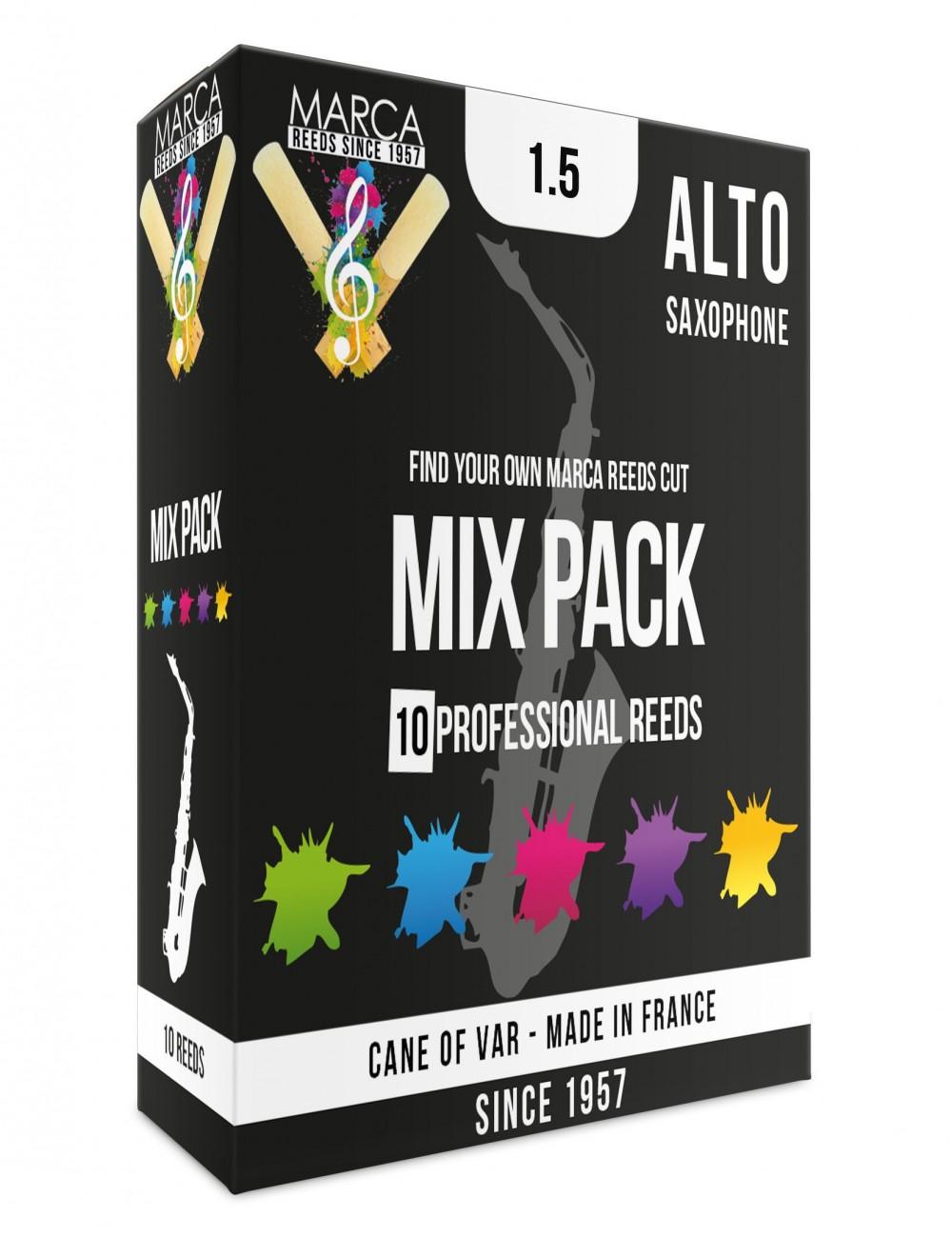10 REEDS MARCA MIX PACK ALTO SAXOPHONE 1.5