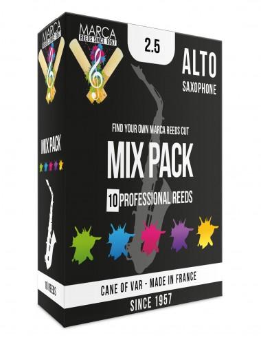 10 REEDS MARCA MIX PACK ALTO SAXOPHONE 2.5