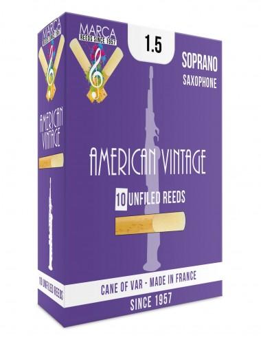 10 ANCHES MARCA AMERICAN VINTAGE SAXOPHONE SOPRANO 1.5