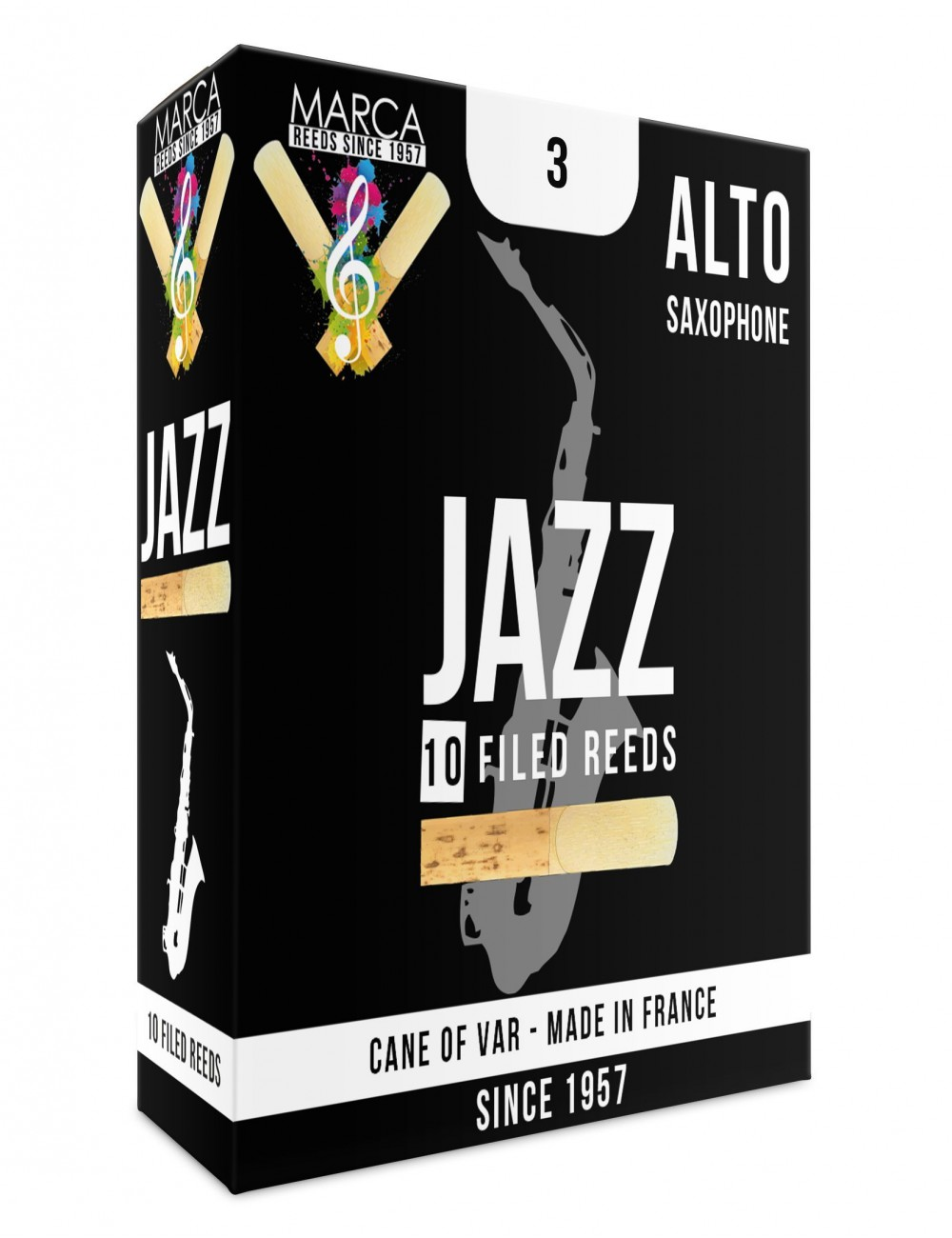 10 REEDS MARCA JAZZ FILED ALTO SAXOPHONE 3