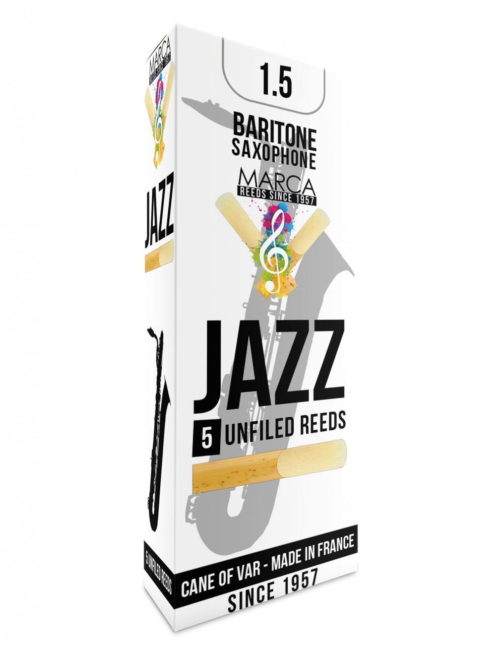 5 REEDS MARCA JAZZ UNFILED BARITONE SAXOPHONE 1.5
