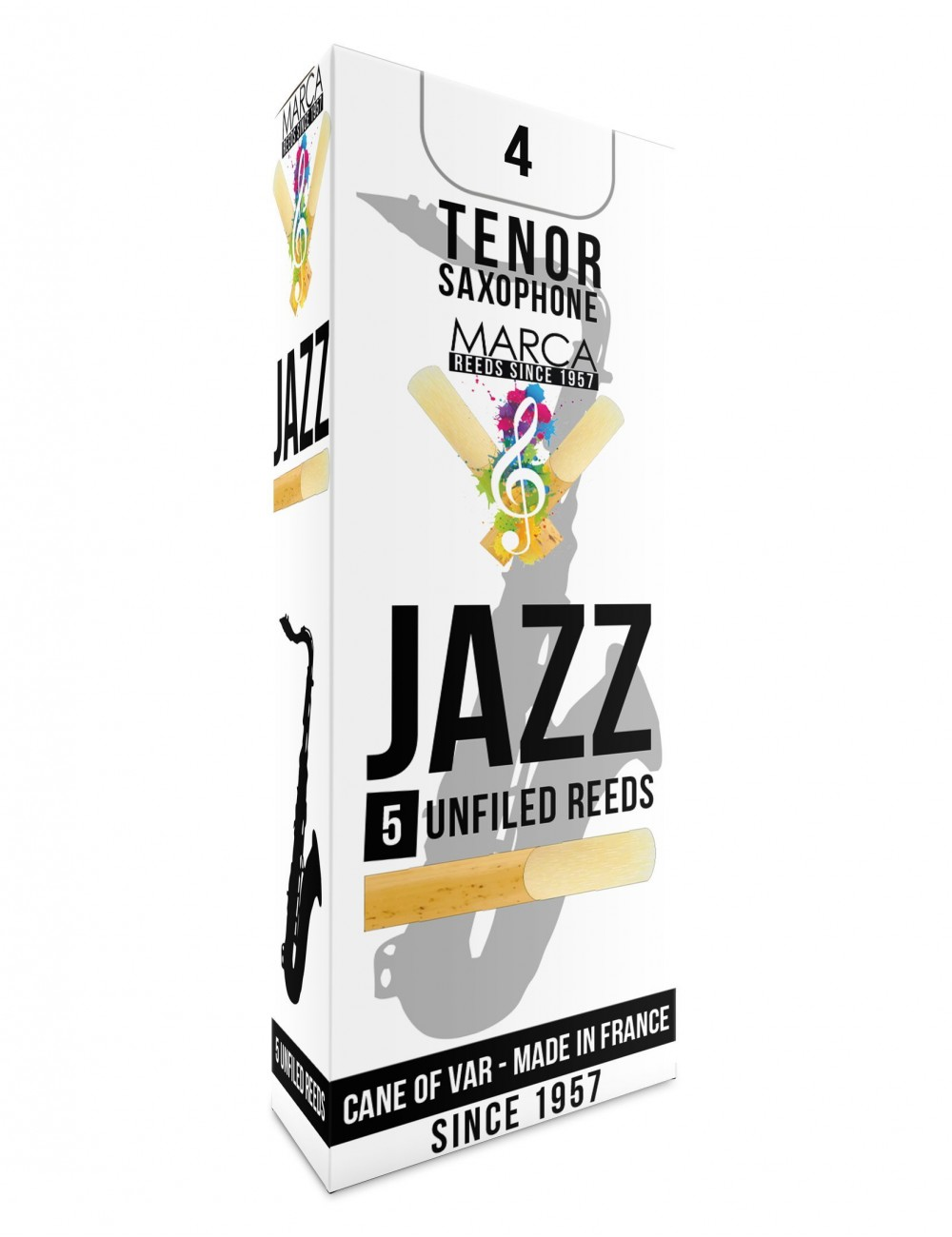 5 REEDS MARCA JAZZ UNFILED TENOR SAXOPHONE 4