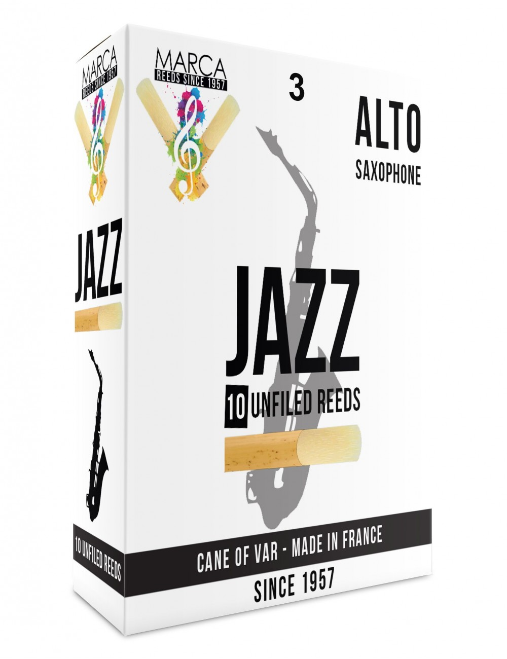 10 REEDS MARCA JAZZ UNFILED ALTO SAXOPHONE 3
